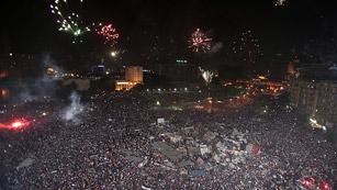 Ver vídeo  'Los detractores de Morsi celebran en la plaza Tahrir de El Cairo la deposición del presidente Morsi'