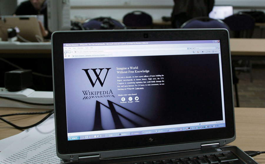 El día del apagón de la Wikipedia