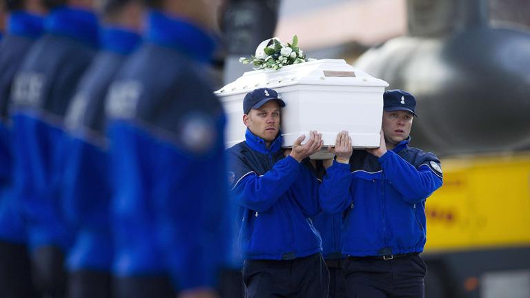 Los cuerpos de los fallecidos en Suiza llegan a Bélgica