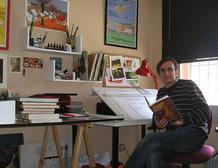 El dibujante Rubén Pellejero es otro de los asistentes
