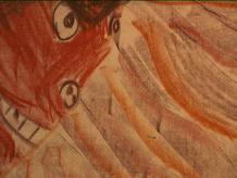 Dibujo realizado por niño expuesto a la violencia de género sufrida por su madre 2