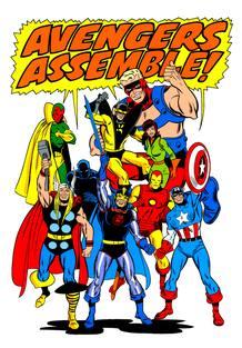 Dibujo de Los Vengadores, por John Buscema