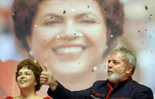 Ver v?deo  'Dilma Rouseff coge el testigo a Lula da Silva'