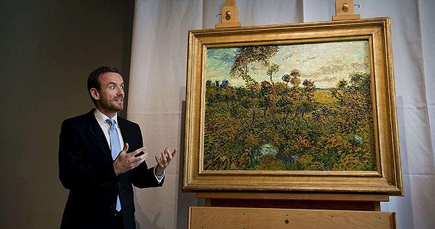 El director del Museo Van Gogh presenta la pintura de Van Gogh