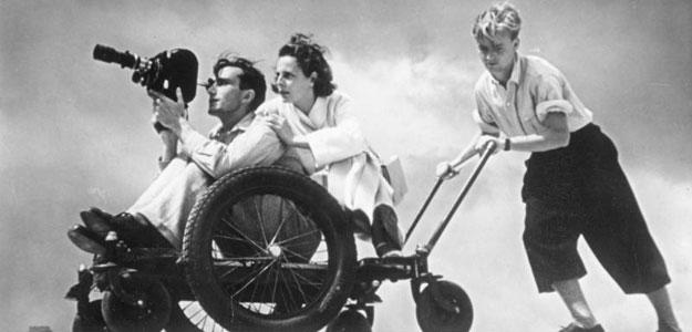 La directora de cine Leni Riefenstahl rodando 'Olimpia' en los Juegos Olímpicos de Berlín de 1936