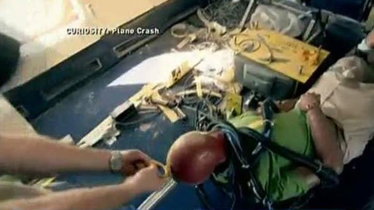 """Discovery Channel """"estrella"""" un Boeing 727 en un simulacro aéreo para grabar un documental"""
