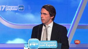 Ver vídeo  'Discurso íntegro de Aznar en el 17 Congreso del PP'