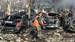 Ver vídeo  'Doble atentado contra edificios de seguridad en Damasco'