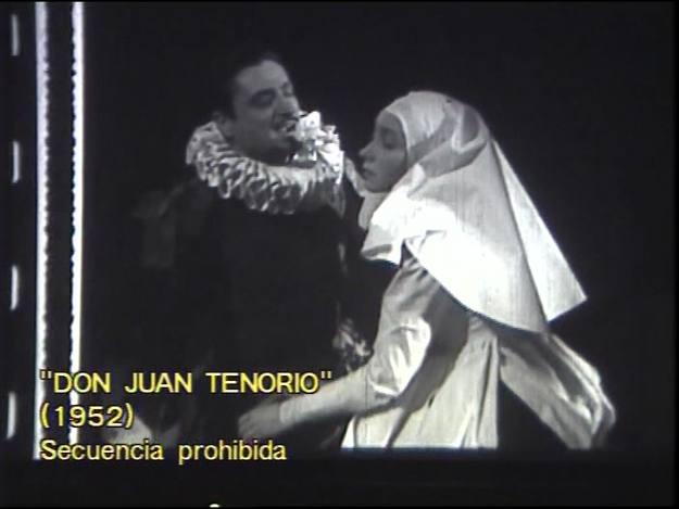 'Don Juan Tenorio' (1952). Los actores fueron instados a ser menos efusivos.