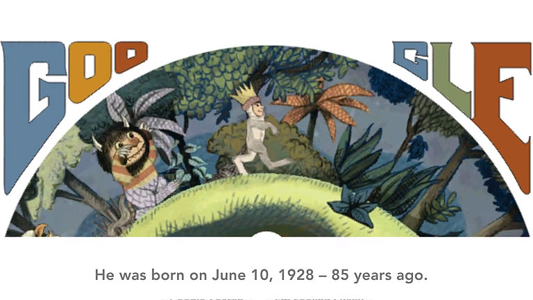 El Doodle de Google dedicado a Maurice Sendak