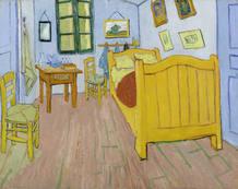 'El dormitorio' (Arles, 1888). Vincent van Gogh.