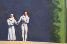 'Dos cómicos' el último cuadro que pintó Hopper en 1966, puede verse en la exposición del Thyssen