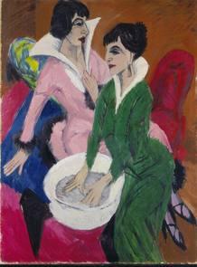 Dos mujeres con aguamanil, de Kirchner
