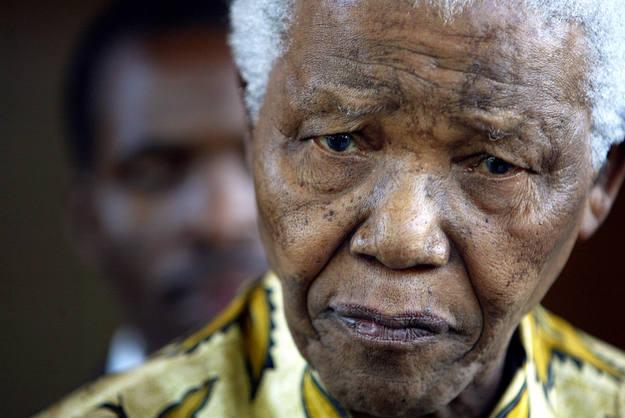 Durante una reunión en la Fundación Mandela de Johannesburgo, en 2005.