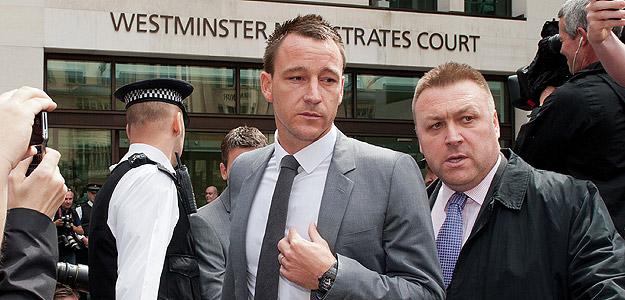 John Terry, tras salir de los juzgados.