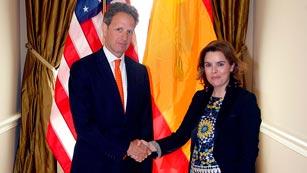 Ver vídeo  'EE.UU. apoya la inyección de fondos europeos a los bancos y el FMI descarta el rescate a España'