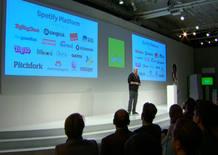 El CEO de Spotify, Daniel Ek, durante la presentación celebrada en Nueva York
