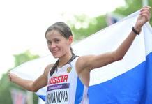 Lashmanova, campeona olímpica de los 20 km marcha.