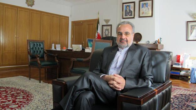 El embajador de Irán en España, Morteza Saffari Natanzi, en su despacho.