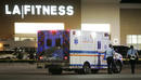 Emergency personnel head into the LA Fitness gym in Bridgeville