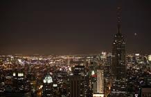 El 'Empire State' con las luces apagadas durante la 'Hora de la Tierra' en Nueva York