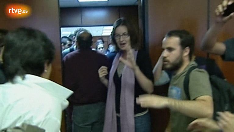 Empujones en la consellería de Educación de Baleares entre responsables y estudiantes