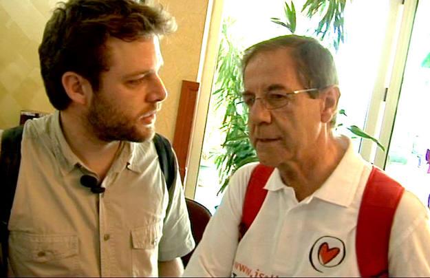 Nos encontramos a Ángel Pujol, que nos habló de la Labor de la Fundación Iniciativas Solidarias