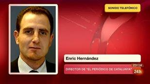 Ver vídeo  'Enric Hernández, director de El Periódico, informa del secuestro del periodista Marc Marginedas en Siria'