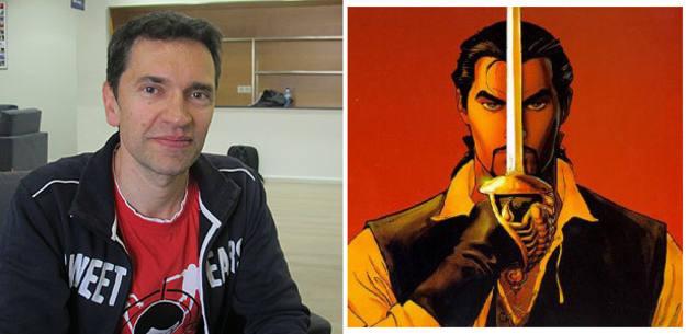 Enrico Marini en el Salón del cómic y el protagonista de su serie 'El escorpión'