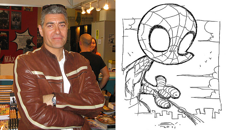 Enrique V. Vegas nos ense&ntilde;a a dibujar un Spiderman cabez&oacute;n