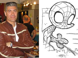 Ver vídeo  'Enrique V. Vegas nos enseña a dibujar un Spiderman cabezón'