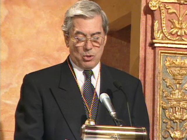 Entrega del Premio Cervantes a Vargas Llosa