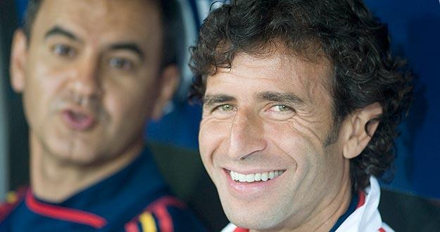 El entrenador de la selección española olímpica, Luis Milla, en una imagen de archivo.