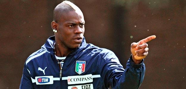 El jugador de la selección italiana Mario Balotelli durante un entrenamiento