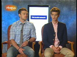 Ver v?deo  'Entrevista a Justin Timberlake y Andrew Garfield por 'La red social''