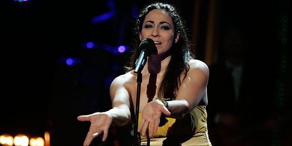 Esmeralda Grao, durante su interpretación de 'Nacida para amar'.