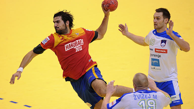 España supera a Eslovenia 35-32