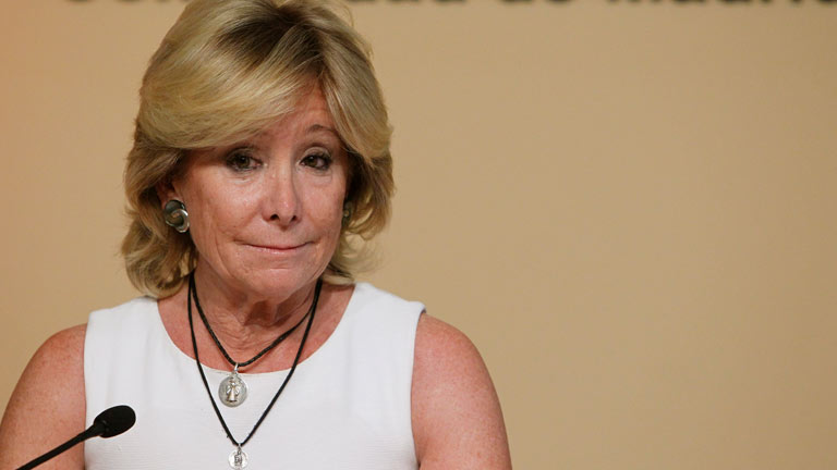Esperanza Aguirre dimite como presidenta de la Comunidad de Madrid