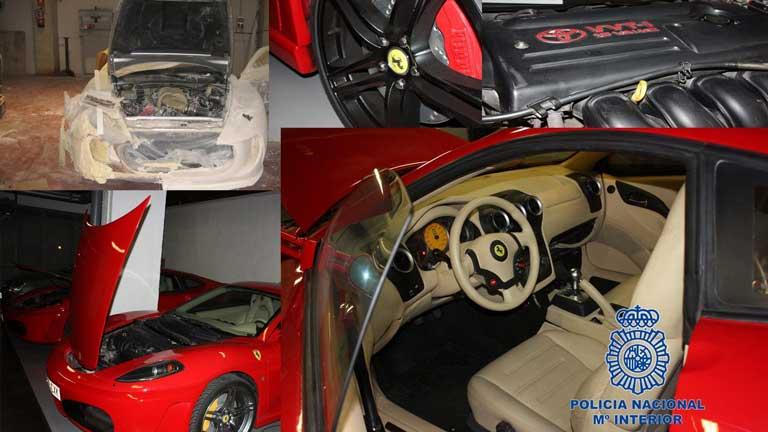 Detenidas 8 personas por falsificación de coches de lujo