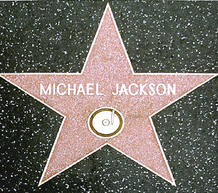 La estrella de Michael Jackson en el Paseo de la Fama de Hollywood
