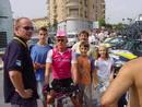 El oro olímpico, posando con fans