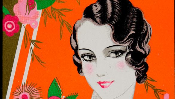 Etiqueta comercial del perfume 'Aux Fleurs de France' (1920)