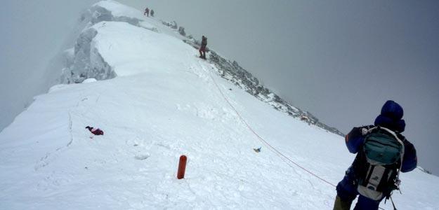Imagen de una expedición reciente al Everest