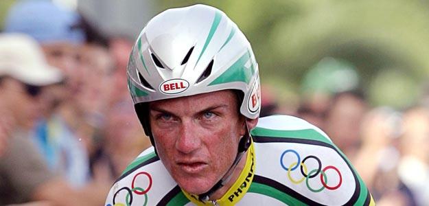 El exciclista Tyler Hamilton en La Vuelta 2004