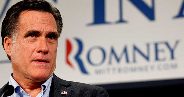 El exgobernador de Massachussets y candidato presidencial republicano, Mitt Romney.