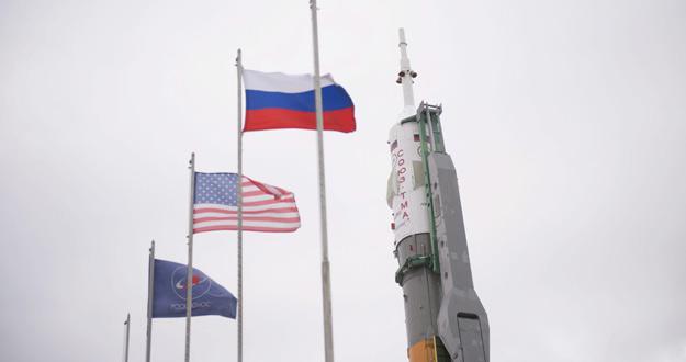 Imagen del lanzamiento de la Soyuz TMA-12M spacecraft en Kazajistan