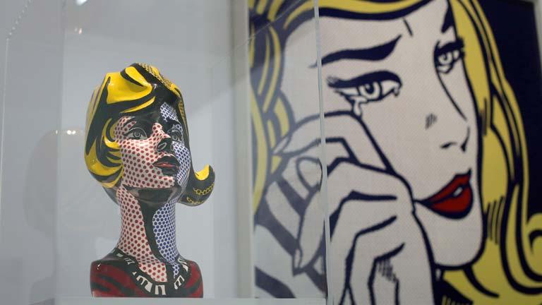El norteamericano Roy Lichtenstein expone sus obras en París