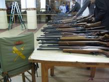 Detalle culatas de escopeta