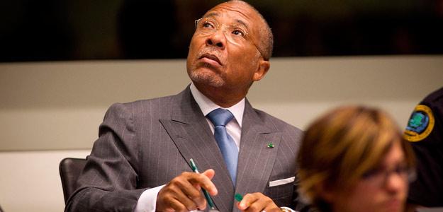 El expresidente de Liberia, Charles Taylor, durante la sesión del juicio en el Tribunal Especial para Sierra Leona