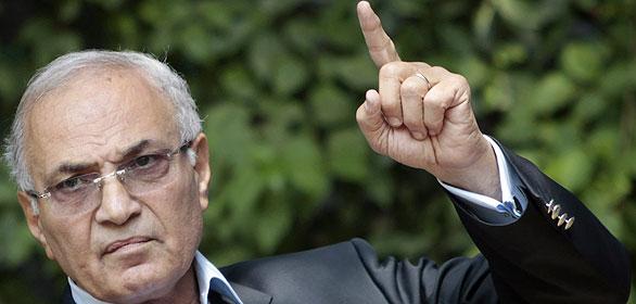 El exprimer ministro de Egipto y candidato presidencial, Ahmed Shafiq